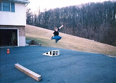 Rachel skating. Circa 1999.