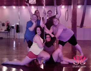 Studio Spin pole party