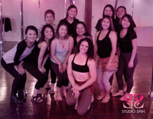 Studio Spin belly dance party