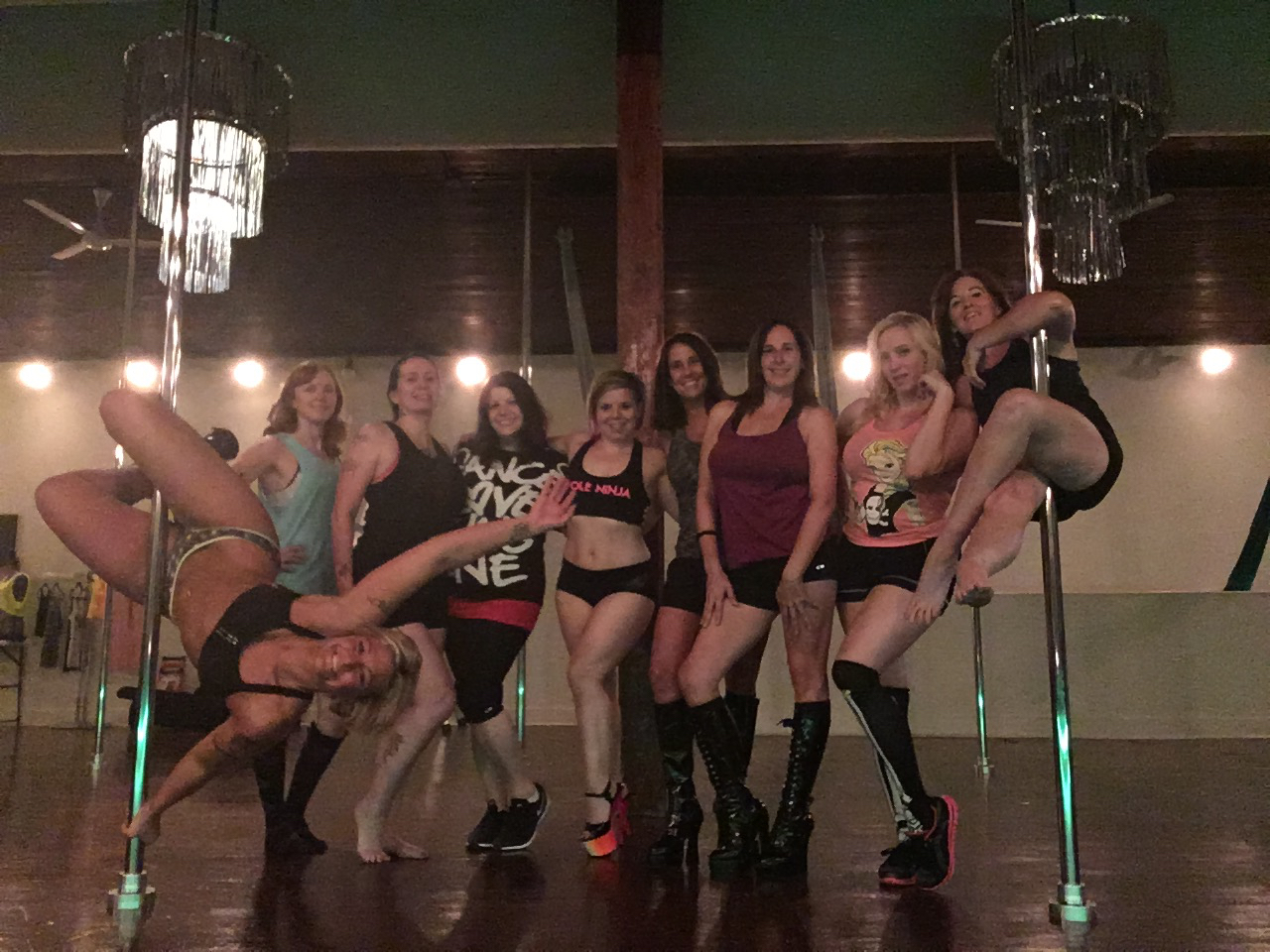 pole classes at Studio Spin