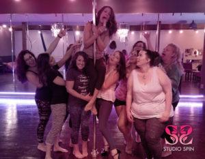 Studio Spin bachelorette party